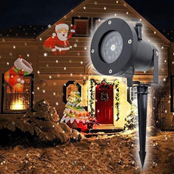 Mini Christmas Snowman Projector Outdoor LED Moving Landscape Lamp Waterproof Disco Lights Decorations for Home