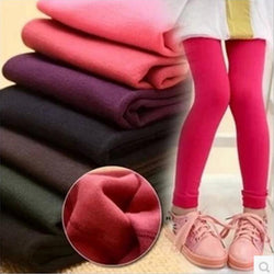 Autumn And Winter Girls Leggings Plus Velvet To Keep Warm Candy Colors Children Pants 3-9 year Kids Leggings For Girls