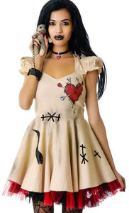 Halloween Costume Girl's Women Cosplay Dress Voodoo Doll Costumes for Adults&Child Fancy Dress Ball S-2XL