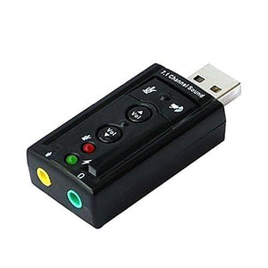 USB 2.0 Virtual 7.1 Channel Audio Sound Card Adapter 3D