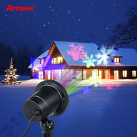 LED Christmas Lawn Lamps 4 Colors IP65 Waterproof LED Stage Light Spotlight Projector Home Indoor Outdoor Garden Landscape
