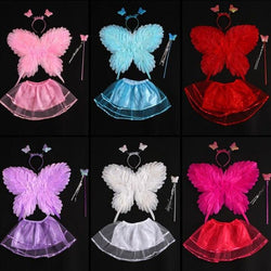 Children Adults Butterfly Feather Wing Fairy Angel Wings Props Cosplay Costume Party Dress Decoration Halloween Christmas