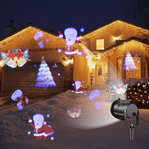 12 Patterns RGB LED Projector light Garden Lawn Outdoor Christmas light Party Holiday Snowflake Shower Landscape Decoration lamp
