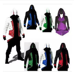 Assassins Creed 3 III Conner Kenway Hoodie Coat Jacket Assassin's Creed Assassin's Costume Connor Cosplay Overcoat