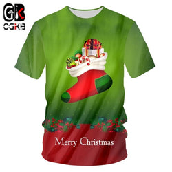 Christmas And Santa Claus T Shirts Plus Size 5XL 6XL