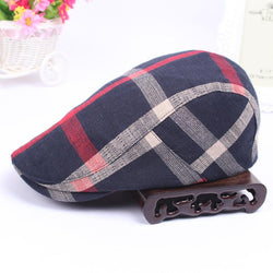 Classic Men Hats Casual Spring Summer Man Hat Travel Outdoor Lattice Male Female Cap