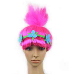 Trolls Cosplay  Kids Hairs Hat with Hairband trolls headpiece cap headwear cosplay accessary