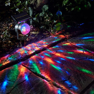 Solar Power Lamp LED Projector Light Colorful Rotating Solar Light Outdoor Garden Lawn Lamp Home Courtyard Christmas Decor