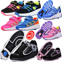 Boy's Girls Child Jazzy Junior Student Shoes Kids Breathable Sneakers With Wheels Children Roller Skate Sport Shoes EUR 28-42