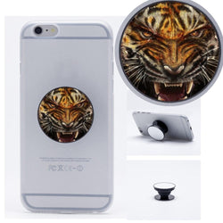 Tiger Animal Pattern Lovely Collapsible Phone Grip Holder Mount Stand Universal