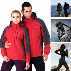 Winter Ski Jacket Men Women Couple Wear Skiwear Waterproof Rain Coat Outdoor Sportwear Snow Jackets Skiing Climbing Down Coats