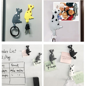 Cute Cartoon Cat Fridge Magnet Multifunctional Refrigerator Creative Hooks For Light Gadget Home Decorations