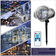 Waterproof Snowflakes Projector Lawn Light Led Stage Lamp Outdoor Decoration Xmas Party Snow Scene Garden Light with 5M Cord