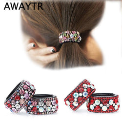 1 pc Hair Clips for Hair Plastic Crystal Gum for Hair Ponytail Ring Buckle Holder Women  Accessories  Hairpin