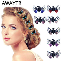 6 Pcs/Lot Hair Clips for Women Fashion Girls Hair Accessories Kids Crystal Butterfly Pins Hair Claws