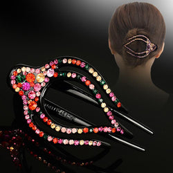 Korean Rhinestone Hairpin for Women Hair Clamps Hair Clip  Headdress Large Duckbill Hairclip Girls Hair Accessories