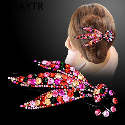 Fashion Hair Clips For Women Large Rhinestone Hairpin Korean Hair Claw Ladies Girls Hair Accessories Grab For Hair