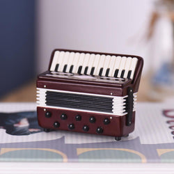 Desktop Accordion Model with Delicate Box Exquisite Mini Accordion Model Musical Instrument Decoration Ornaments Musical Gift