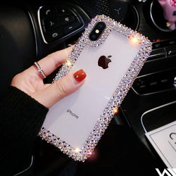 Fashion Crystal Case For Iphone X XR XS Max 6 6S Plus 7 Plus 8 Plus For Samsung Galaxy S8 S9 S10 Plus Lite S7 Edge Note 8 9 Case