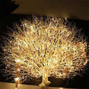2M 200leds  Tree Vine Light String Waterfall Holiday Fairy Curtain Lamp Waterproof Garden Christmas Party Wedding Romantic Decor
