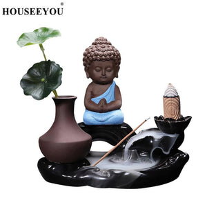 Buddha Waterfall Backflow Incense Burner