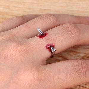 1PC Adjustable Nails Halloween Creative Unisex Horrifying Finger Ring Ring Simple Style for Halloween Party Gifts