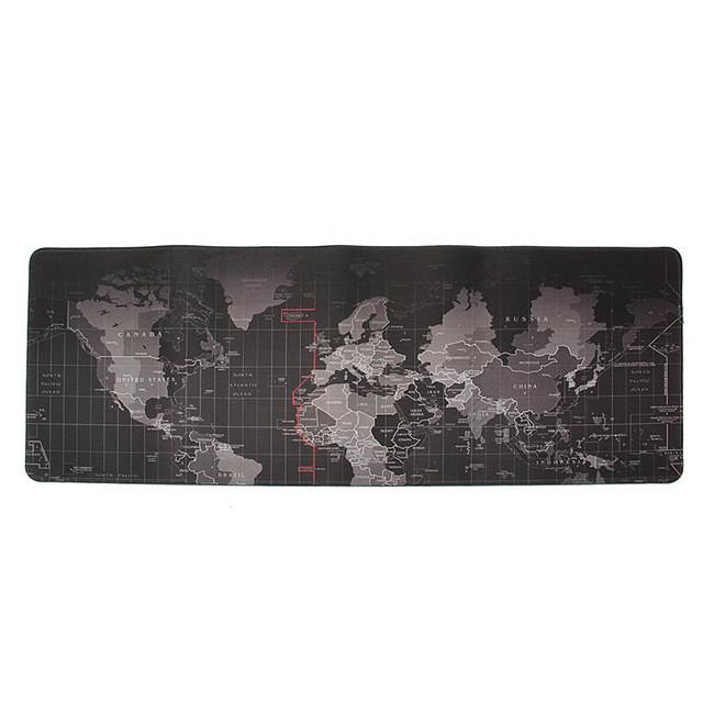 World Map Mouse Pad 700x300mm 800x300mm 900x400mm Large Size Speed Key
