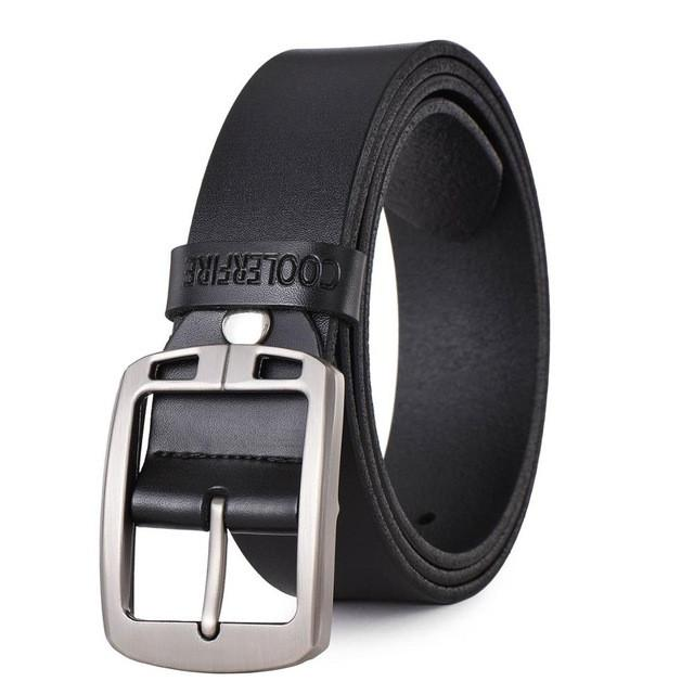 100% cowhide genuine leather belts for men cowboy Luxury strap brand male vintage fancy jeans designer belt men high quality - DealsBlast.com