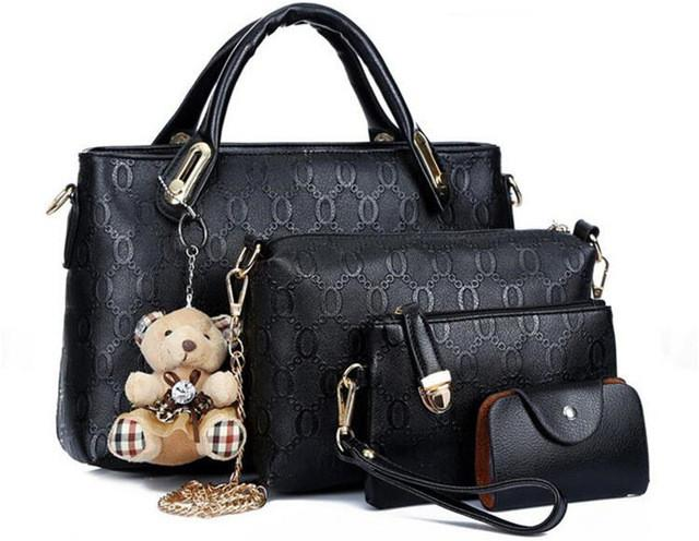 Women bag top-handle bags handbag set Leather composite bag  4pcs/set - DealsBlast.com