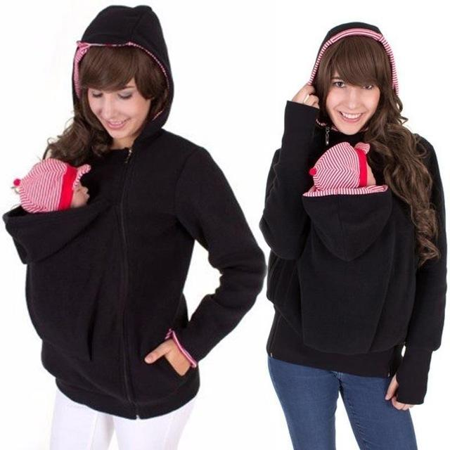 0d9c45247817 Baby Carrier Jacket Kangaroo Outerwear Hoodies  Sweatshirts Coat for  Pregnant Women Pregnancy Baby Wearing Coat Women