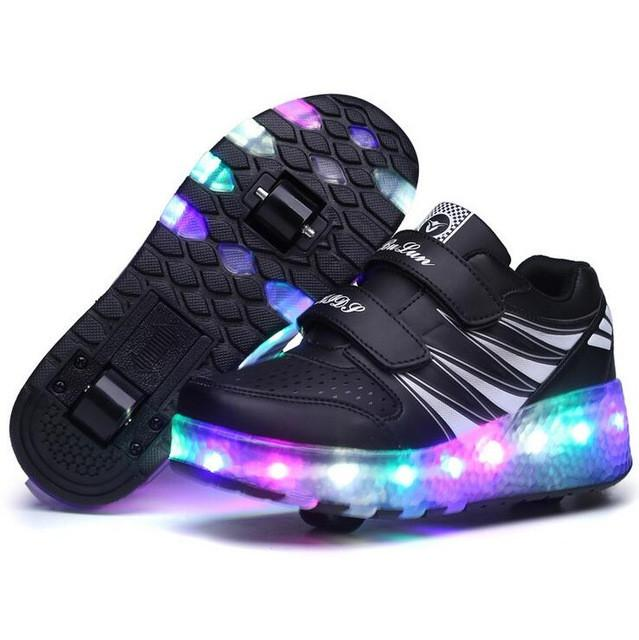 Kids Girls Shoes Children Shoes Kids Sneakers Boys LED Light Up Shoes Luminous Shoes - DealsBlast.com