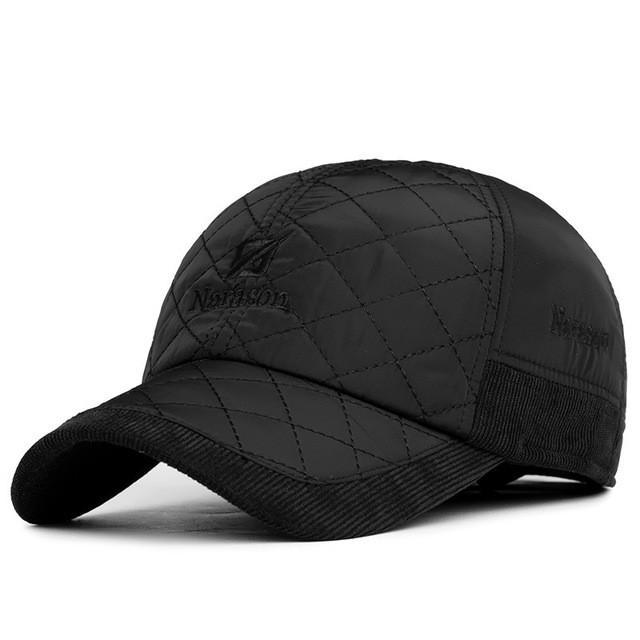 Winter Hat Snapback Caps With Earflaps Tab Protect For Man Dad Hat Baseball Cap Casquette Gorras Planas - Deals Blast
