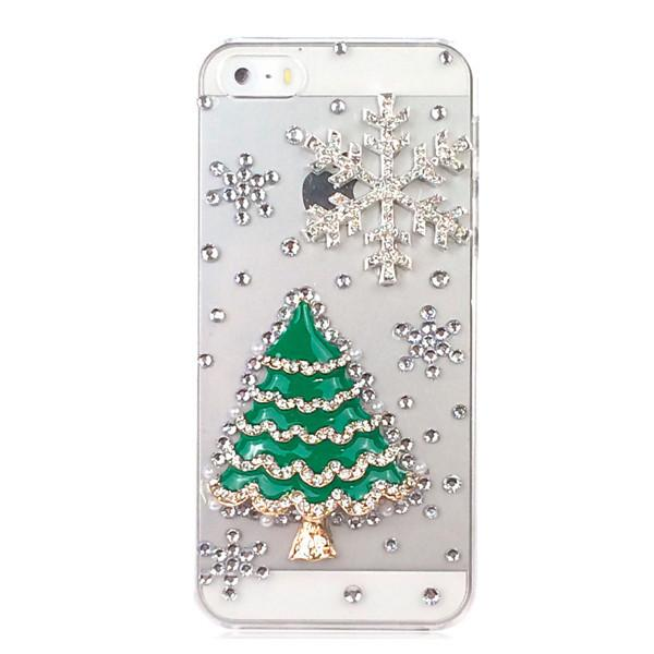 3D Christmas Tree Tower Snow Phone Cases For iPhone 5 For iphone 5S - DealsBlast.com