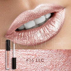 Matte rose goldt metal color lip gloss non-sticking cup do not fade waterproof durable golden lipstick lip make-up bare gold