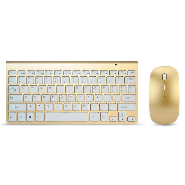2.4G Ultra-Thin Silent Wireless Keyboard Mouse Combos for Apple Style Mac Pc WindowsXP/7/8/10 Tv Box - DealsBlast.com