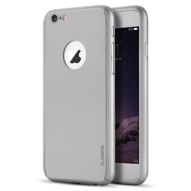 Luxury 360 Degree Full Body Protection Cover Cases For iPhone 6 6s 7 Plus With Tempered Glass For iPhone 6S Case Logo - DealsBlast.com