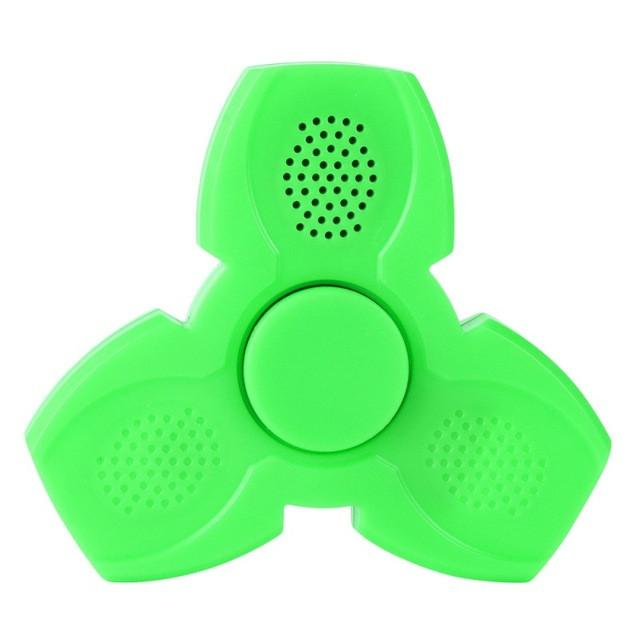LED Bluetooth Speaker Musical Hand Fidget Spinner USB Charging Fingertip Gyro Spinner Anti Stress Relief Kids Adults Toys Gifts