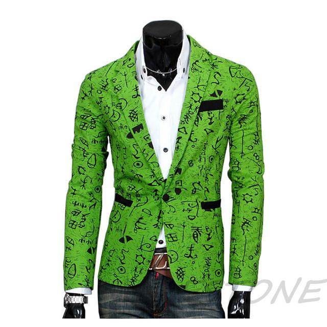 Stylish Mens Casual Slim Fit three Buttons Suit Blazer Coat Jacket Outwear - Deals Blast