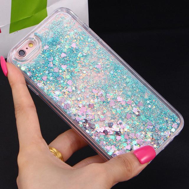 Heart Glitter Stars Dynamic Liquid Quicksand Soft TPU Phone Back Cover Case For Iphone 6 6S 6Plus 6SPlus 7 7Plus 5 5S - DealsBlast.com