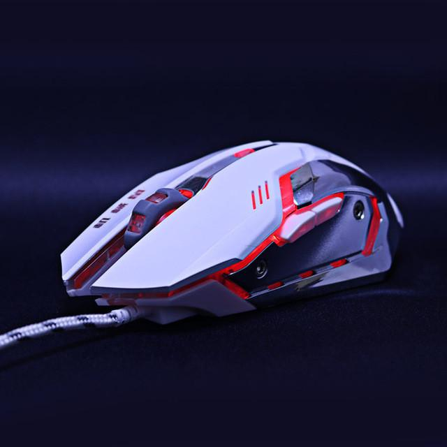 Gaming Mouse Mause DPI Adjustable  Computer Optical LED Game Mice Wired USB Games Cable Mouse LOL for Professional Gamer - DealsBlast.com