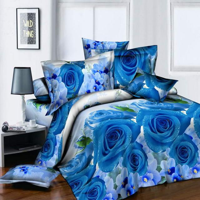 New tulip flowers 3D Bedding Sets 4pcs cover Bed Sheet - Deals Blast