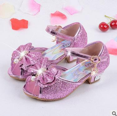 Girls sandals 2017 high heels children fashion princess sandals summer - DealsBlast.com