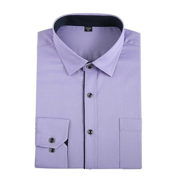 Luxury Men Shirts Long Sleeve Mens Dress Shirts Cotton White Black Shirt Men Slim Fit Tuxedo Shirt Plus Size - DealsBlast.com