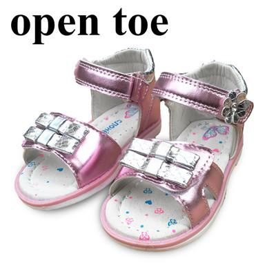 Super New arrival 1 pair PU leather Girl Children Sandals Orthopedic shoes, super quality Kids/child's princess Summer Shoes