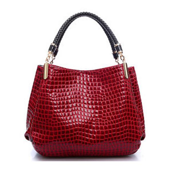 Designer Handbag Women Leather Handbags Alligator Shoulder Bags - DealsBlast.com