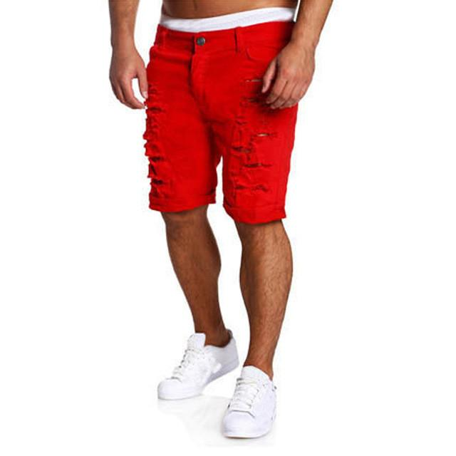 Cargo Shorts Men Hot Sale Casual Ripped Holes Summer Brand Clothing Cotton Male Fashion Jogger Work Shorts Men - DealsBlast.com