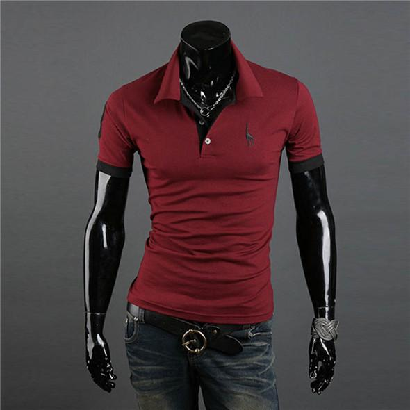 MENPOLO SHIRT! casual slim fit short-sleeved men polo shirt size M-XXXL - Deals Blast