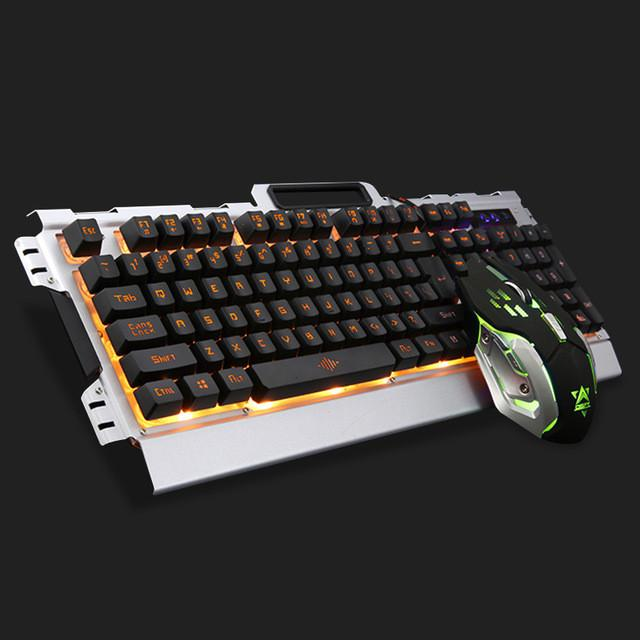 K33 Wired LED Backlit illuminated Multimedia Ergonomic Usb Gaming Keyboard Gamer + 3200DPI 6 Buttons Optical Gaming Mouse - DealsBlast.com