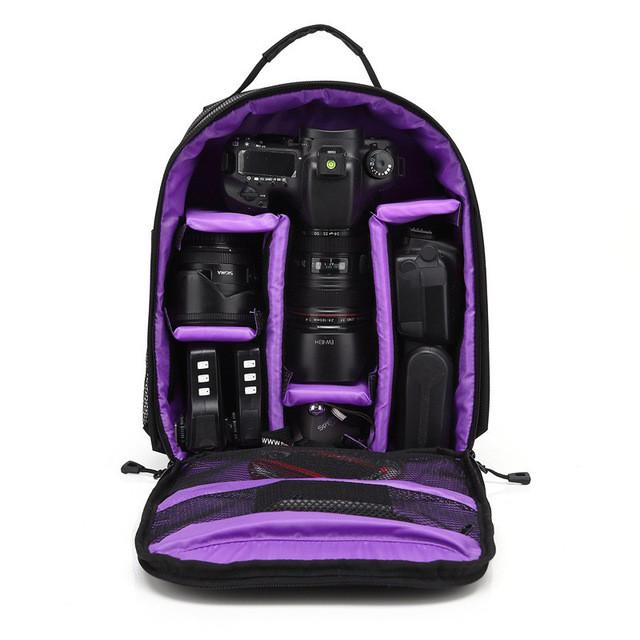 Upgrade Waterproof multi-functional Digital DSLR Camera Video Bag w/ Rain Cover SLR Camera Bag PE Padded for Photographer - DealsBlast.com