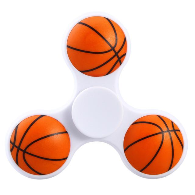 1 PC Basketballl Football Spinner Hands Plastic Spinner Fidget For Autism EDC And ADHD Anti Stress Toy - DealsBlast.com